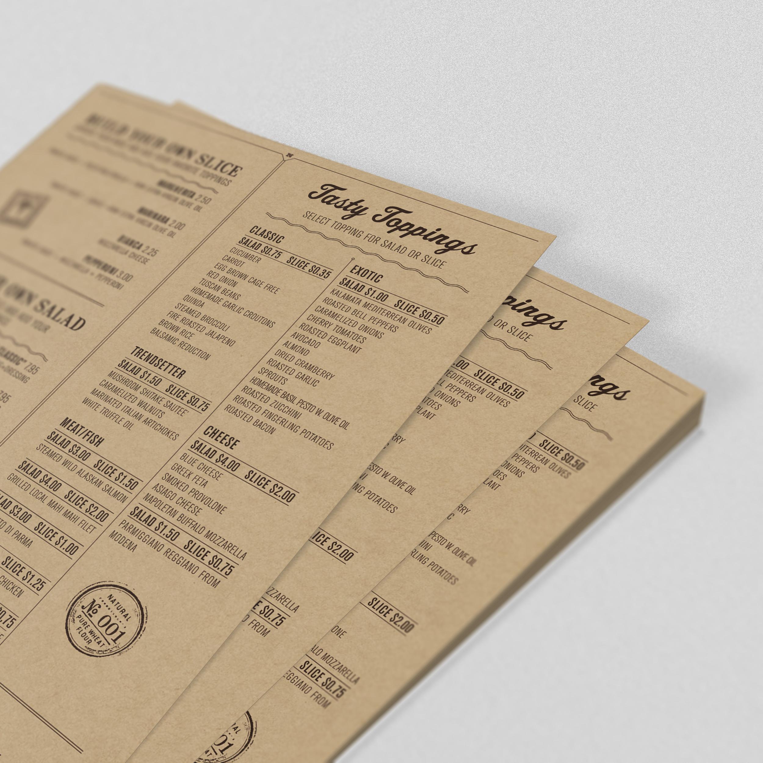 Печать на крафтовой бумаге