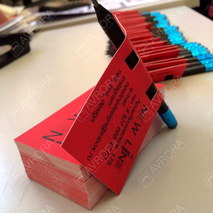 Дизайнерские визитки