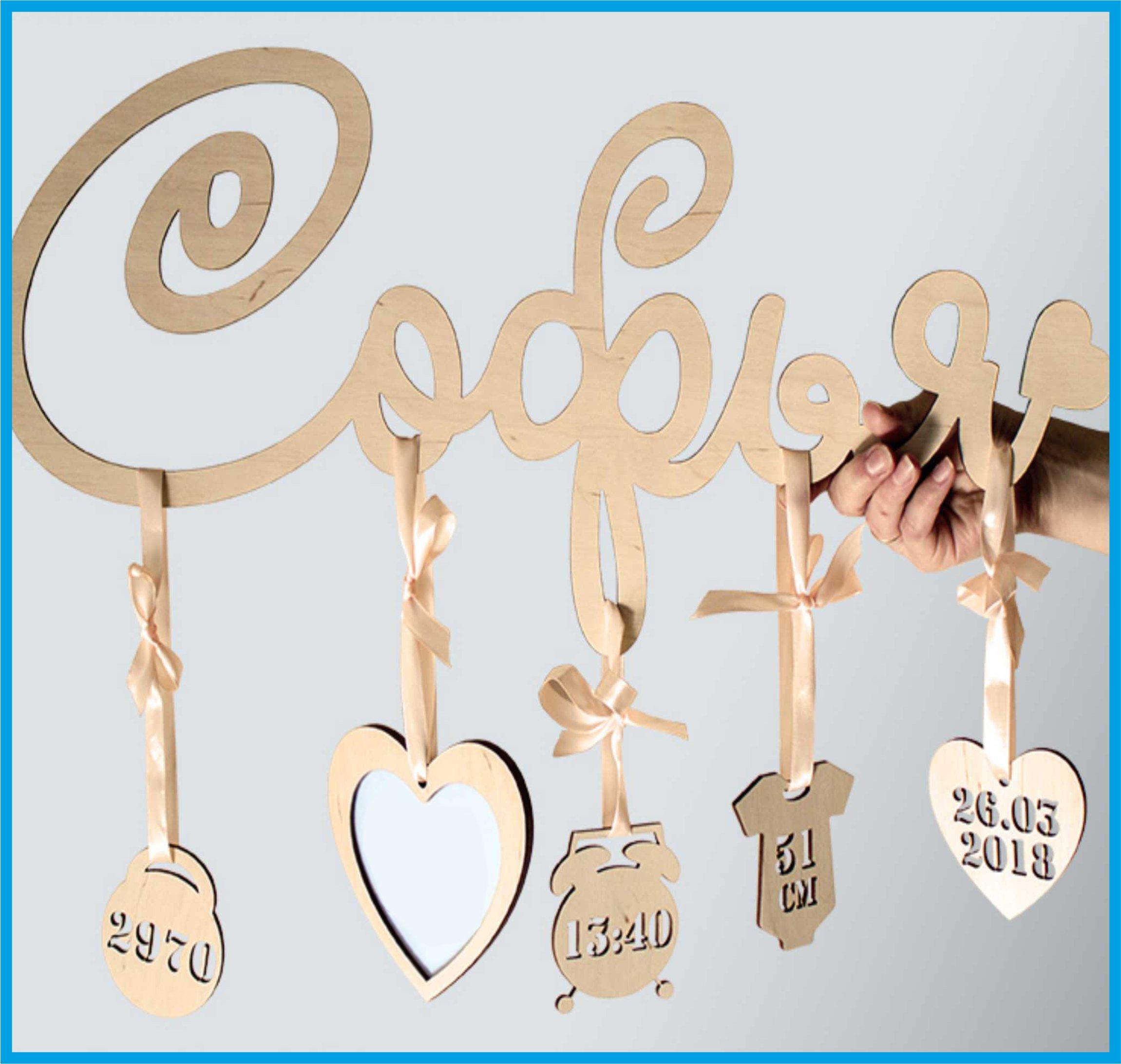 Слова и буквы из дерева